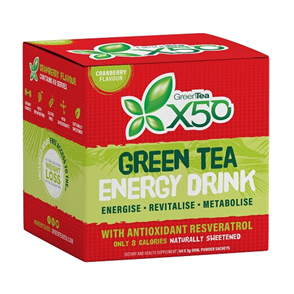 X50 GREEN TEA + RESVERATROL CRANBERRY NEW FORMULA