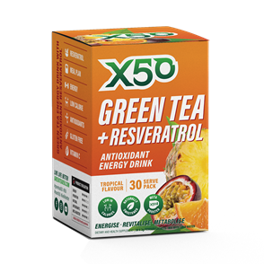 X50 GREEN TEA + RESVERATROL TROPICAL
