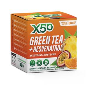 X50 GREEN TEA + RESVERATROL TROPICAL