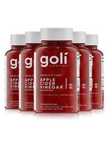GOLI GOLI APPLE CIDER VINEGAR GUMMIES 5 PACK