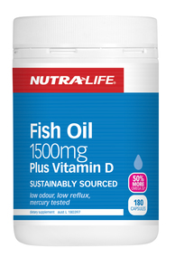 NUTRA-LIFE OMEGA 3 FISH OIL 1500MG PLUS VITAMIN D