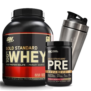 OPTIMUM NUTRITION GOLD STANDARD WHEY 3.5LB PRE ADVANCED COMBO