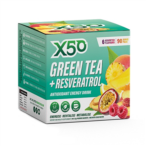 X50 GREEN TEA + RESVERATROL 90 SERVE ASSORTED FLAVOURS