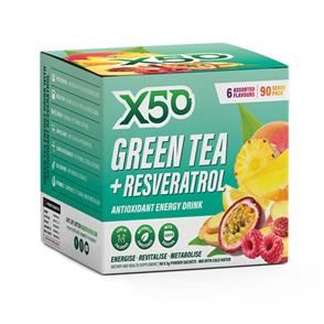X50 GREEN TEA + RESVERATROL ASSORTED FLAVOURS