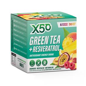 X50 GREEN TEA + RESVERATROL 90 SERVE ASSORTED FLAVOURS