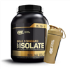 FREE Gold Stainless Steel Shaker with Optimum Nutrition 100% Isolate 2.27kg 5lb purchase